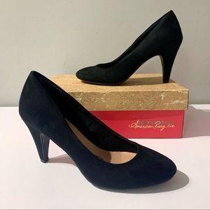 American rag Black heels size 7